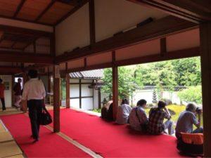 京都妙心寺東林院「沙羅の花を愛でる会」